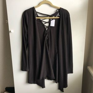 Charlotte Russe Brown Cardigan / Small